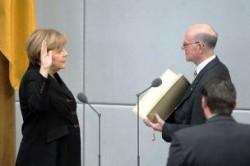 Присяга А. Меркель в Бундестаге